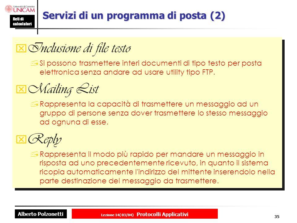 Servizi di un programma di posta (2)