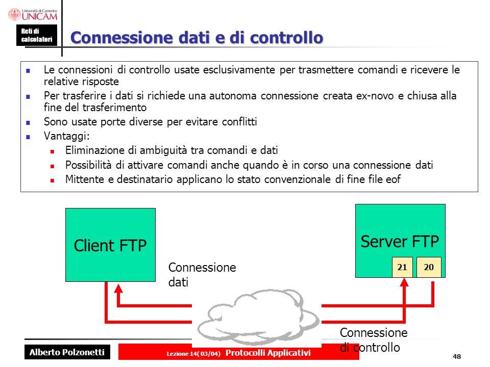 Connessione dati e di controllo