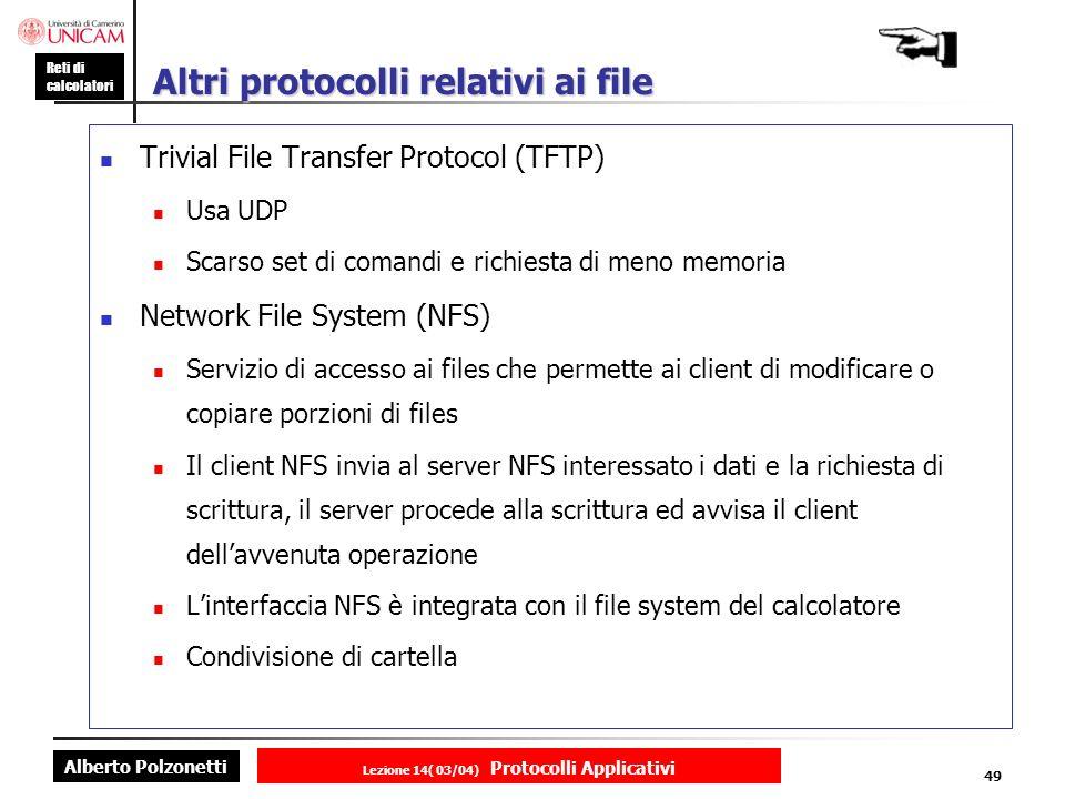Altri protocolli relativi ai file