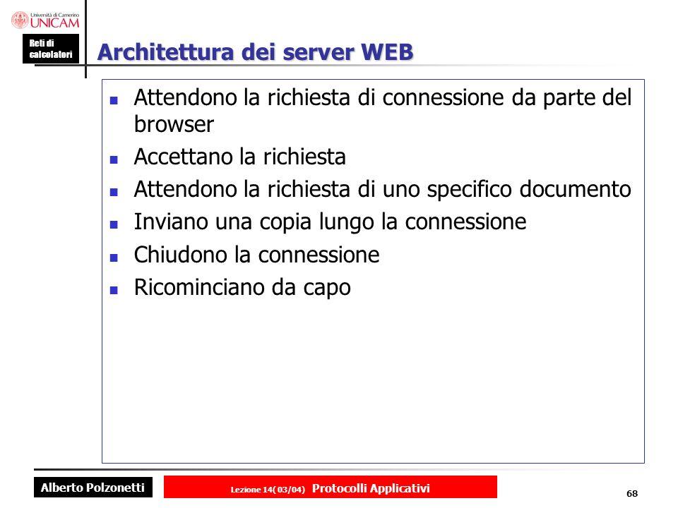Architettura dei server WEB