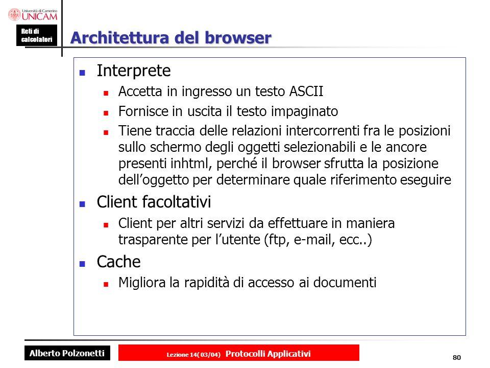 Architettura del browser