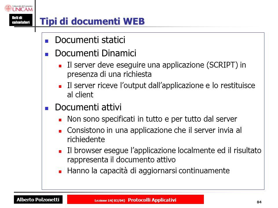 Lezione 14( 03/04) Protocolli Applicativi