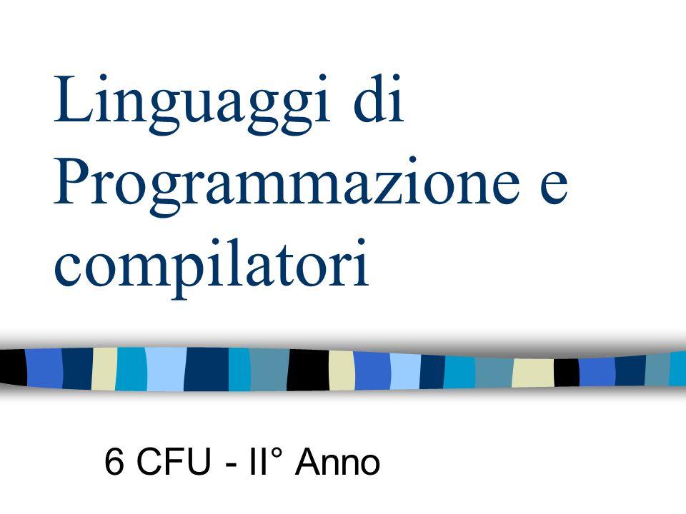 Linguaggi di Programmazione e compilatori