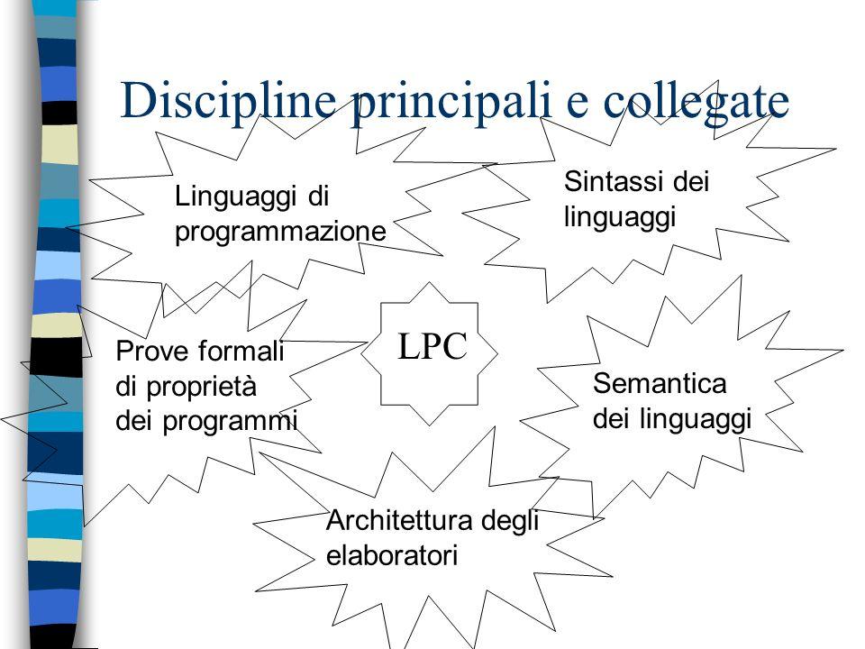 Discipline principali e collegate