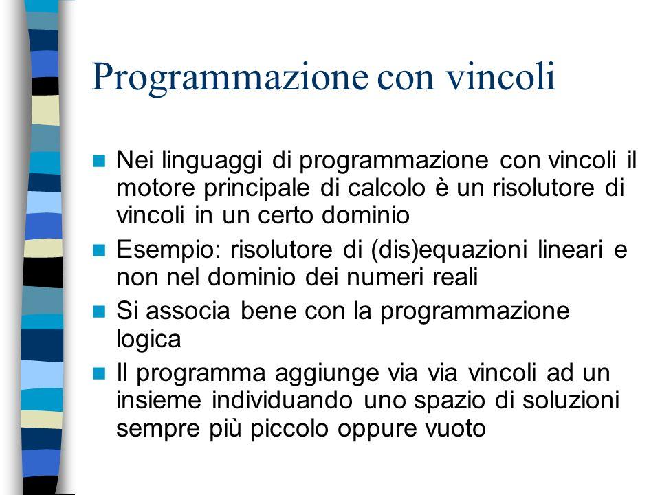 Programmazione con vincoli