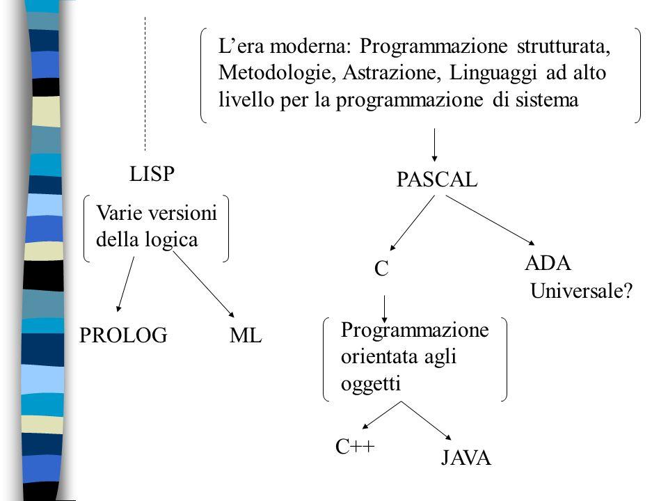 LISP Varie versioni della logica. PROLOG. ML.