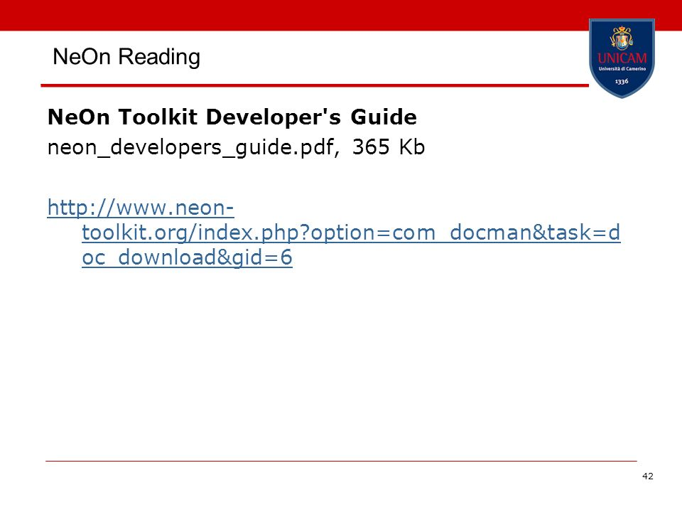 NeOn Reading NeOn Toolkit Developer s Guide