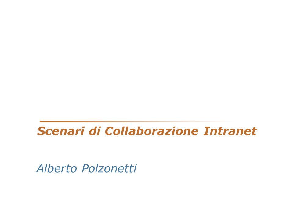 Scenari di Collaborazione Intranet