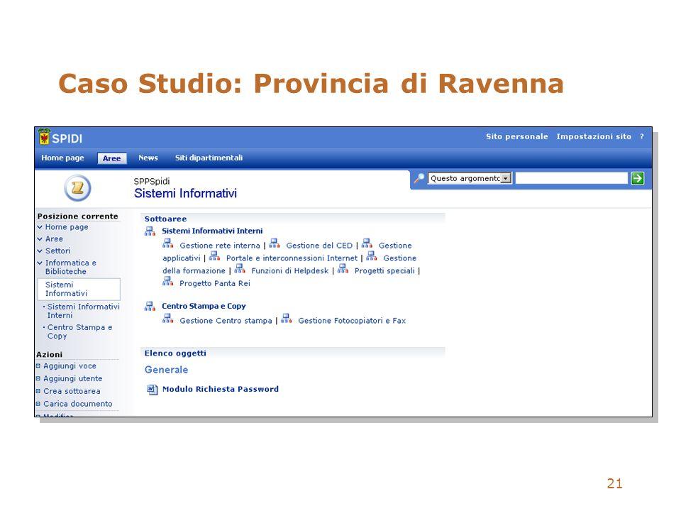 Caso Studio: Provincia di Ravenna