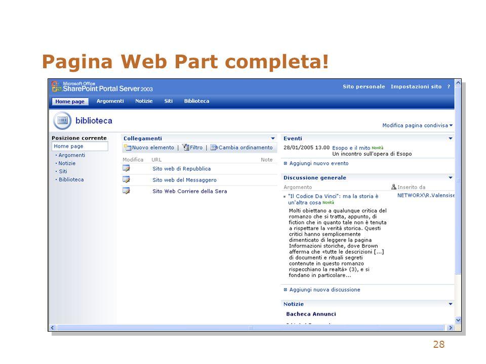 Pagina Web Part completa!
