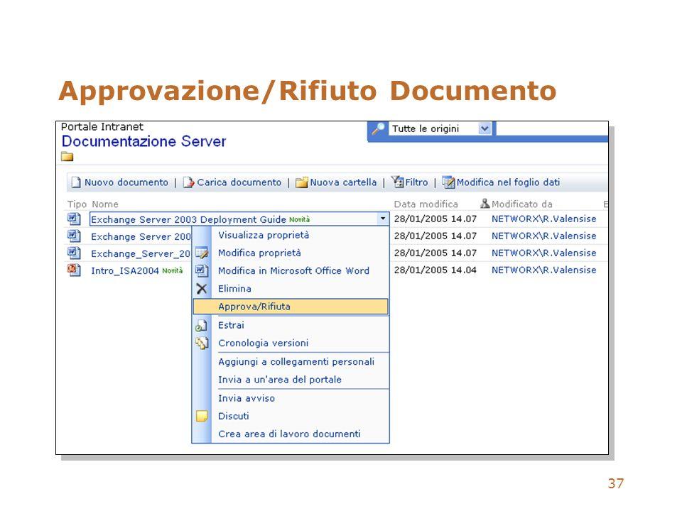 Approvazione/Rifiuto Documento