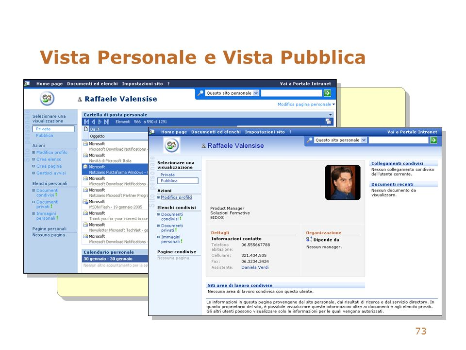 Vista Personale e Vista Pubblica