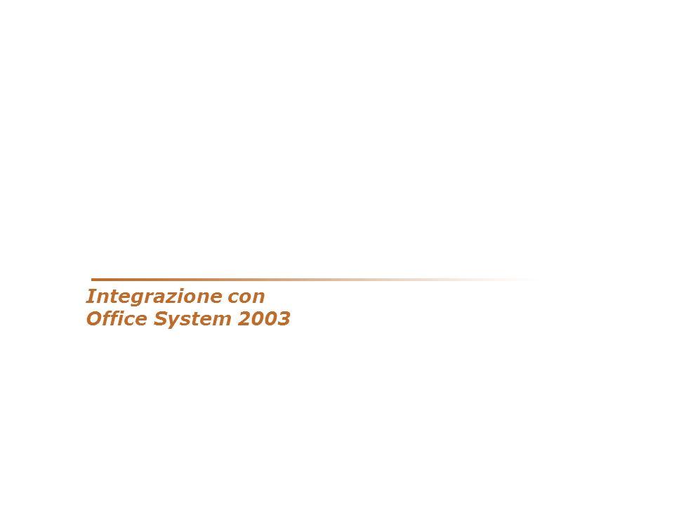 Integrazione con Office System 2003