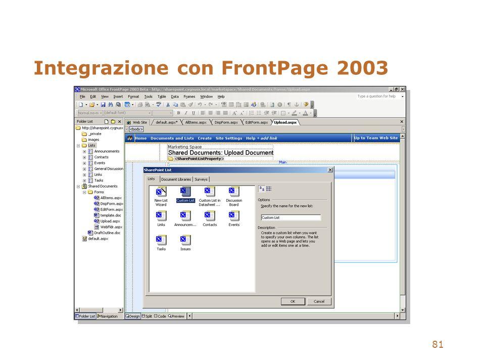 Integrazione con FrontPage 2003