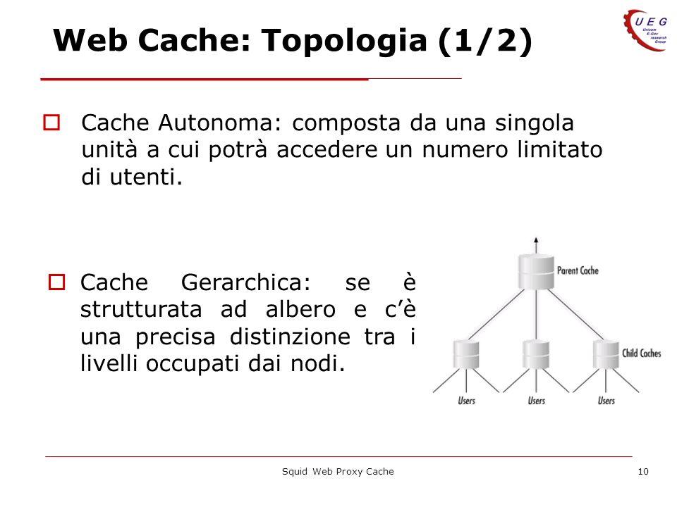 Web Cache: Topologia (1/2)