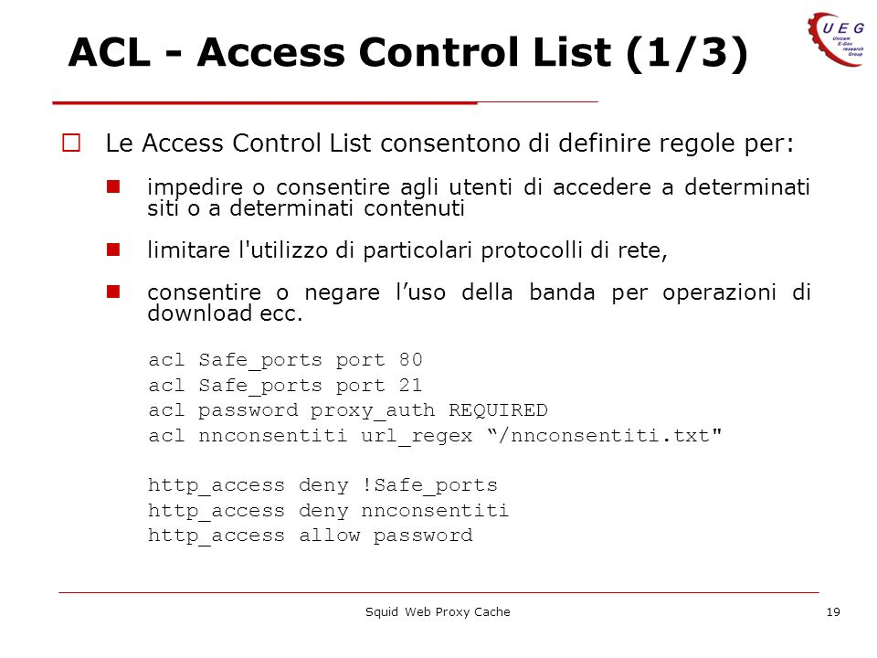 ACL - Access Control List (1/3)