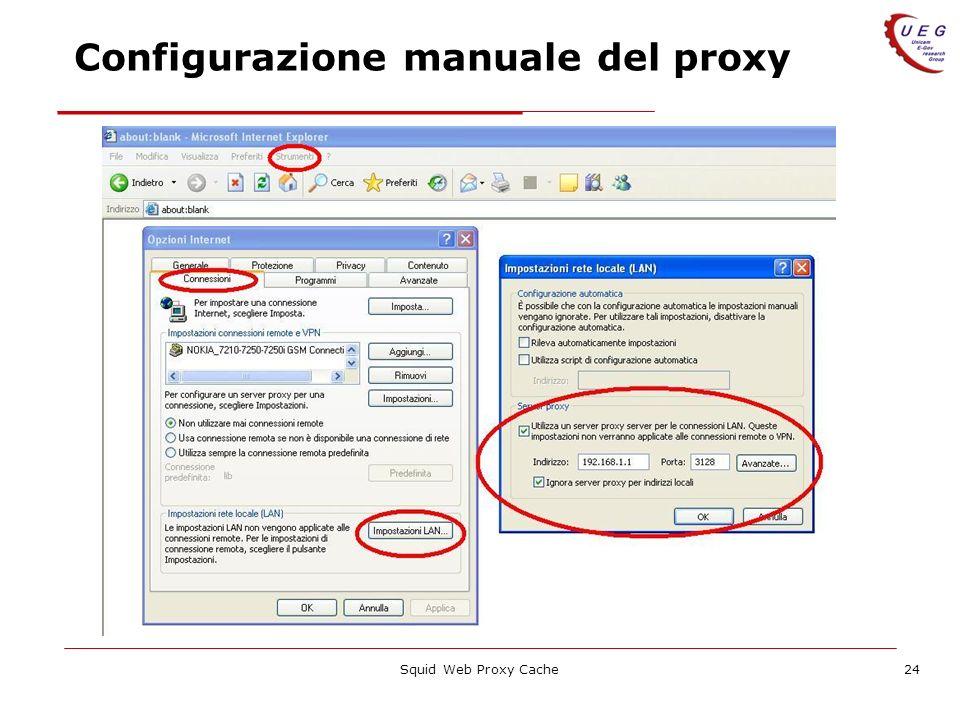 Configurazione manuale del proxy