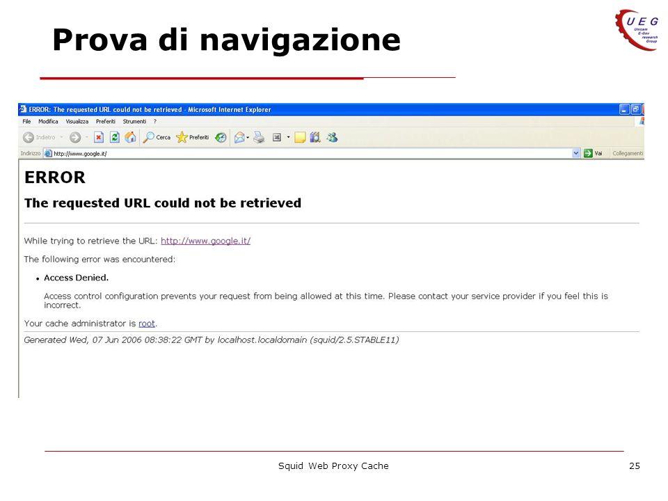 Prova di navigazione Squid Web Proxy Cache