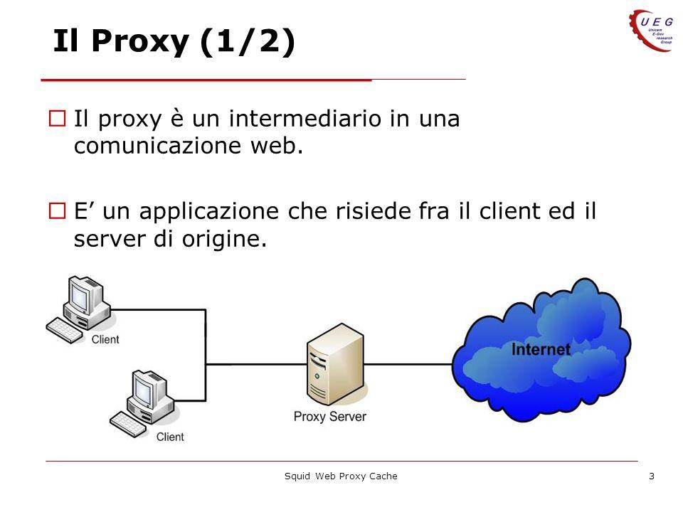 Il Proxy (1/2) Il proxy è un intermediario in una comunicazione web.