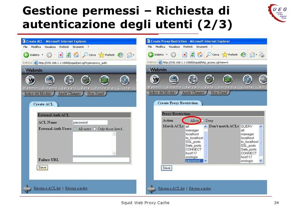 Gestione permessi – Richiesta di autenticazione degli utenti (2/3)