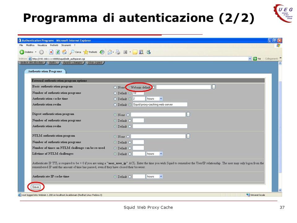 Programma di autenticazione (2/2)