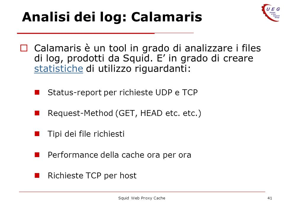 Analisi dei log: Calamaris