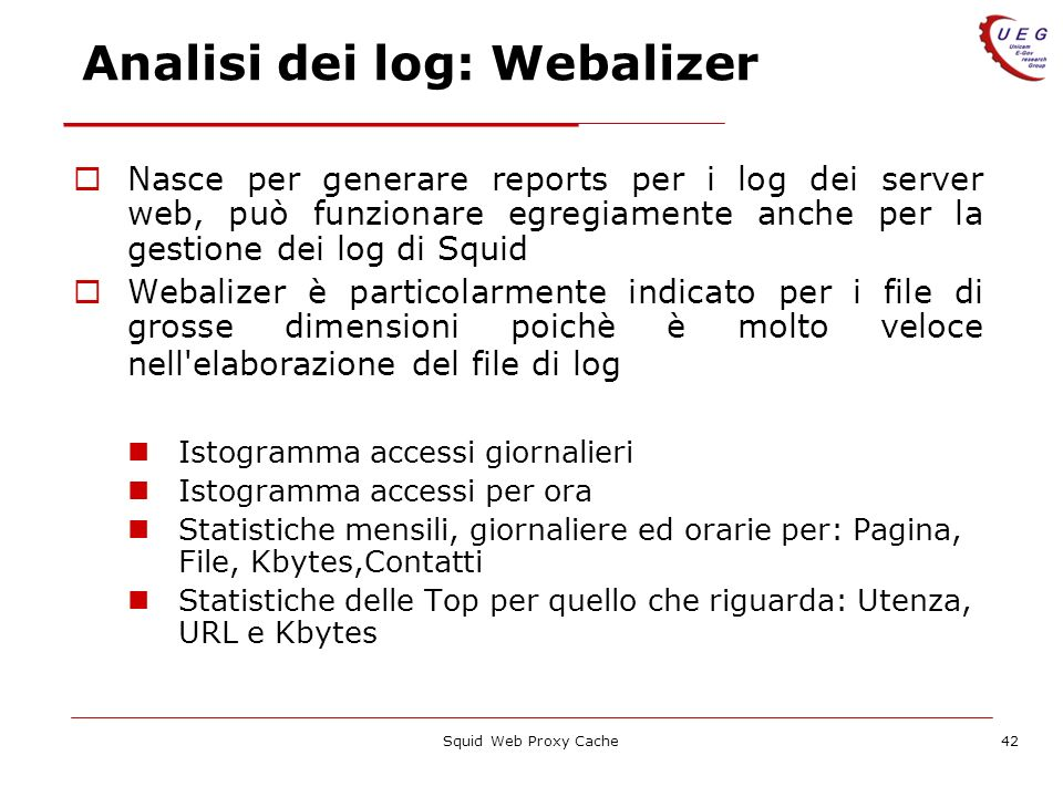 Analisi dei log: Webalizer
