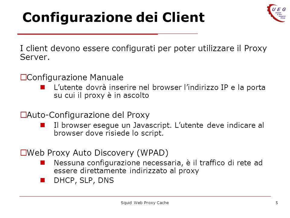 Configurazione dei Client