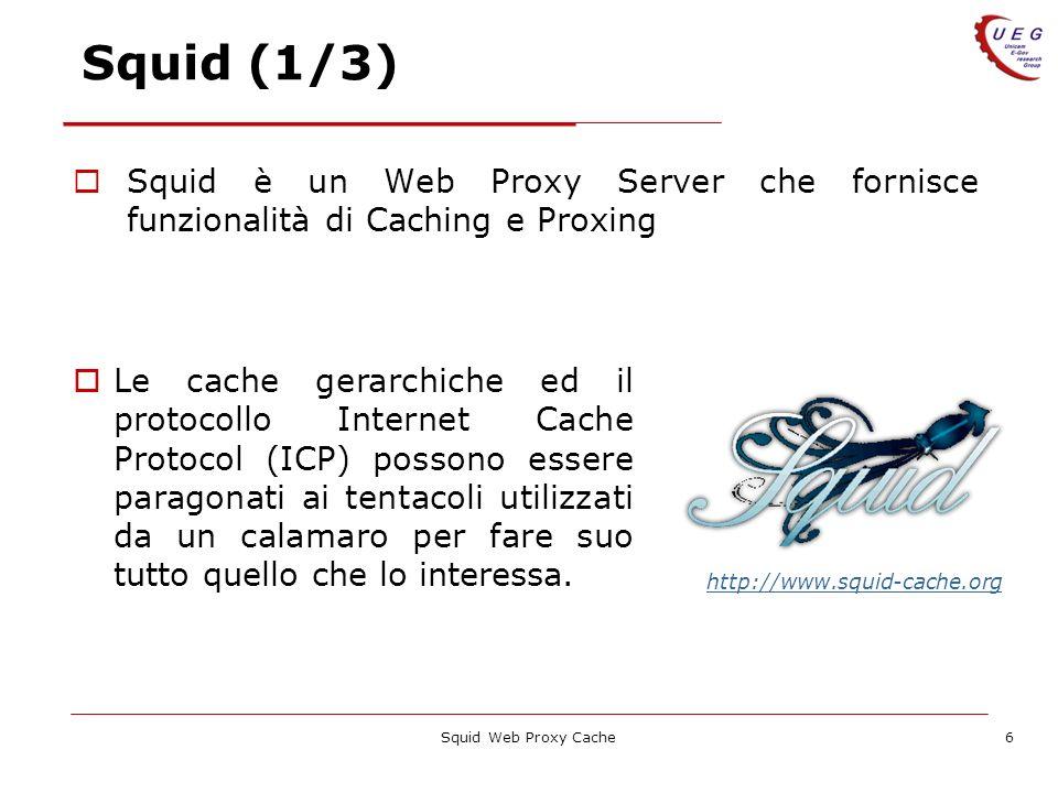 Squid (1/3) Squid è un Web Proxy Server che fornisce funzionalità di Caching e Proxing.