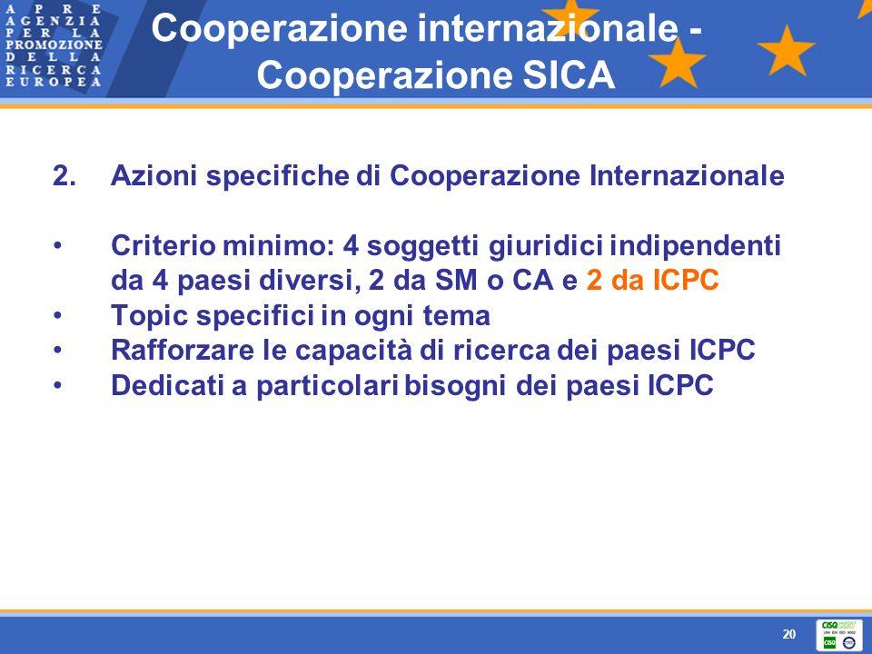 Cooperazione internazionale - Cooperazione SICA