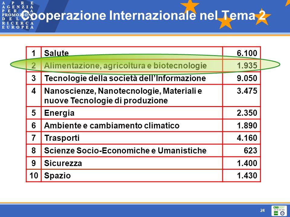 Cooperazione Internazionale nel Tema 2