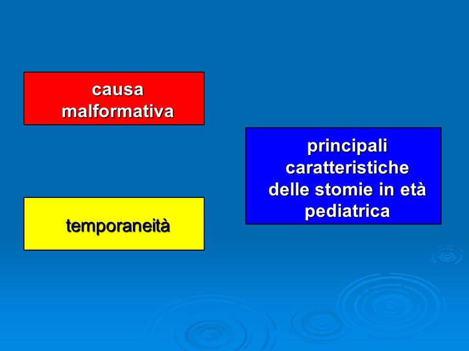 principali caratteristiche delle stomie in età pediatrica
