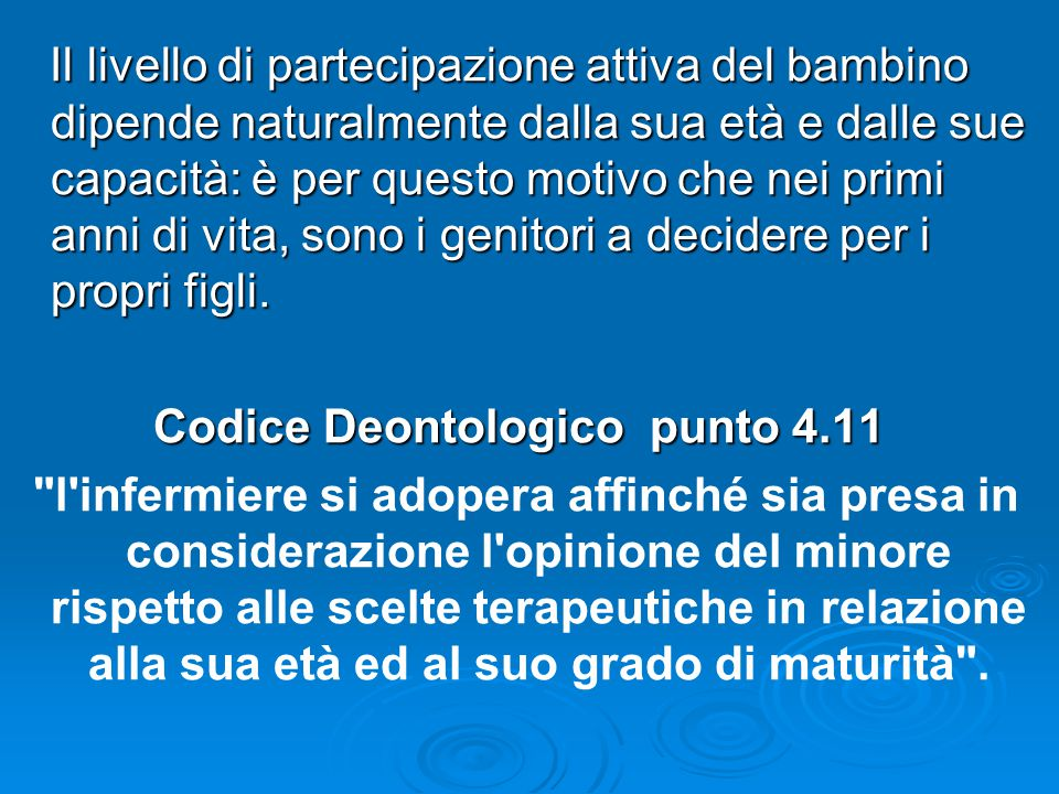 Codice Deontologico punto 4.11