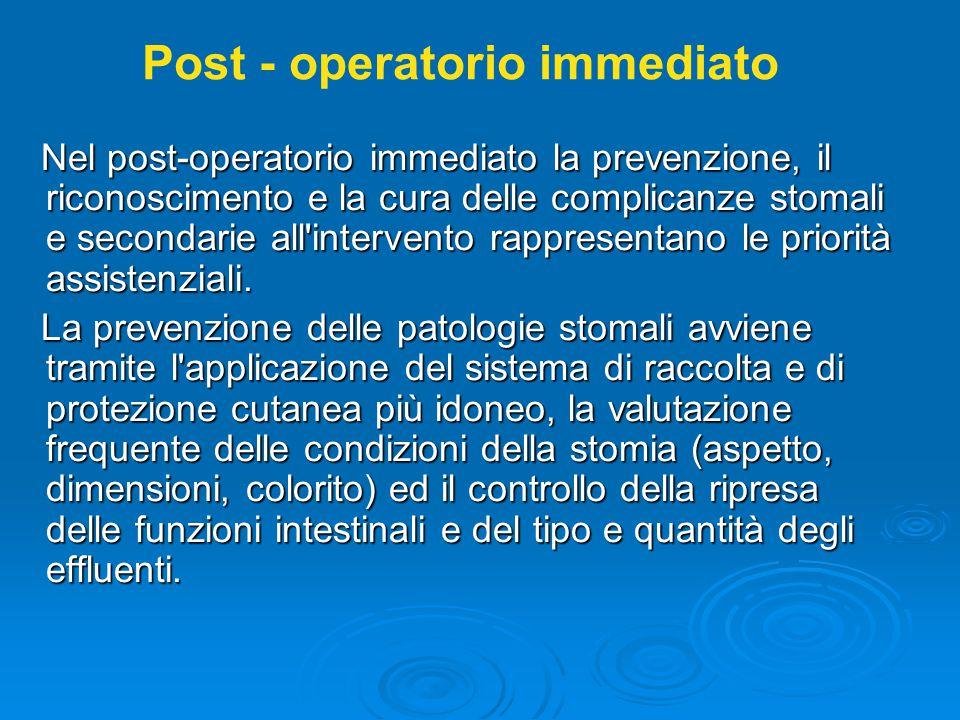 Post - operatorio immediato