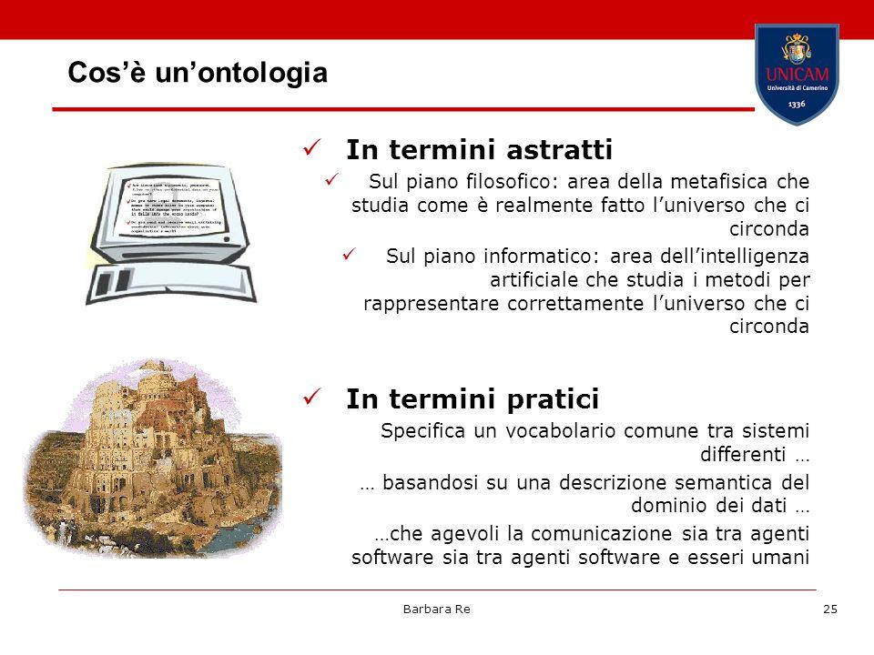 Cos'è un'ontologia In termini astratti In termini pratici