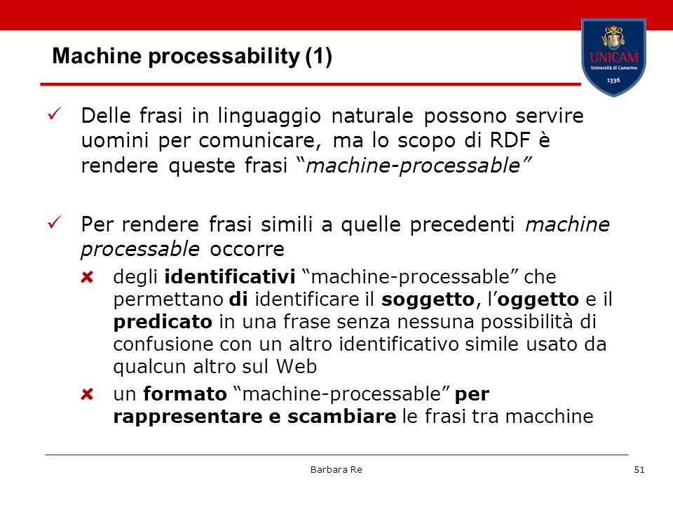 Machine processability (1)