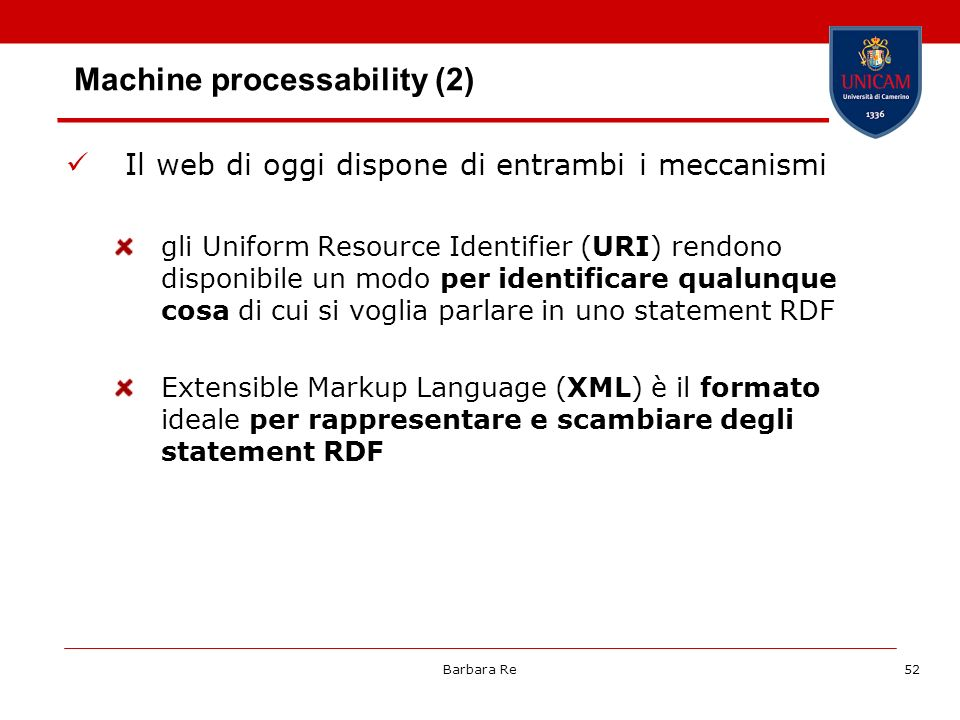 Machine processability (2)
