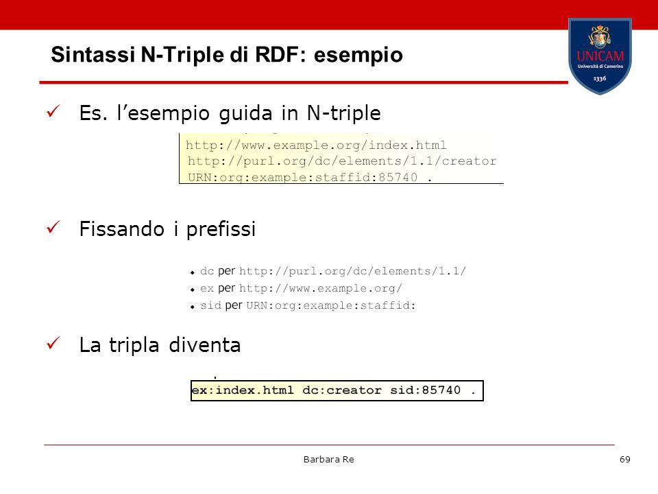Sintassi N-Triple di RDF: esempio