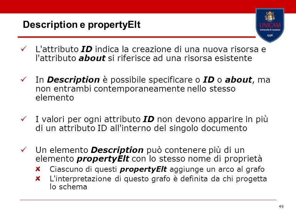 Description e propertyElt
