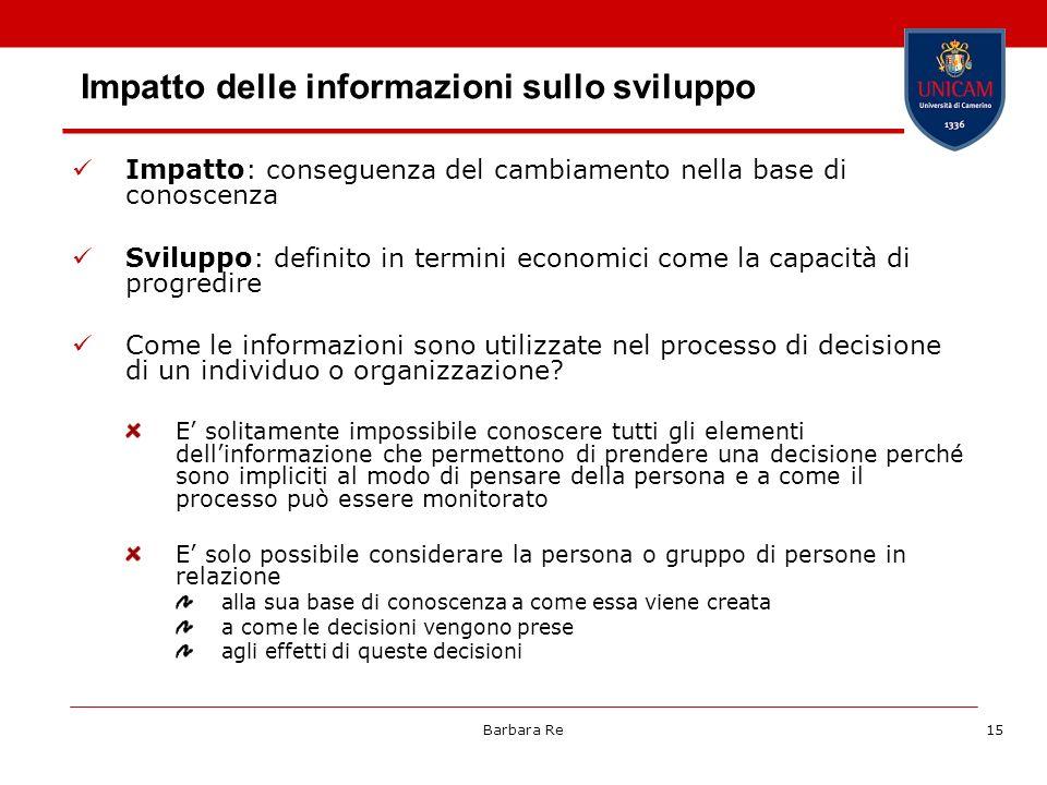 Impatto delle informazioni sullo sviluppo