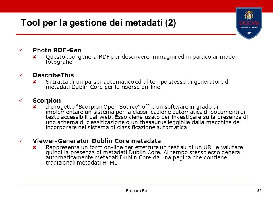 Tool per la gestione dei metadati (2)