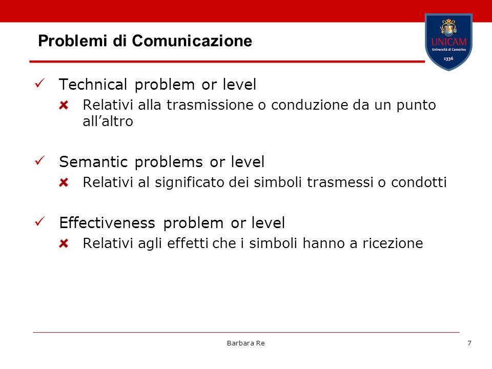 Problemi di Comunicazione
