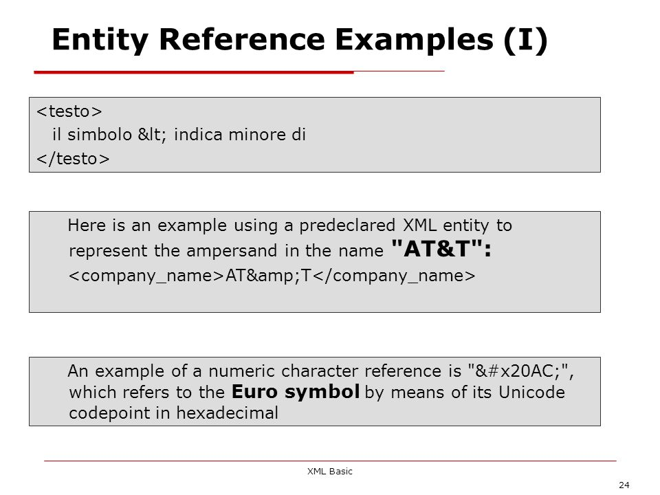 Entity Reference Examples (I)