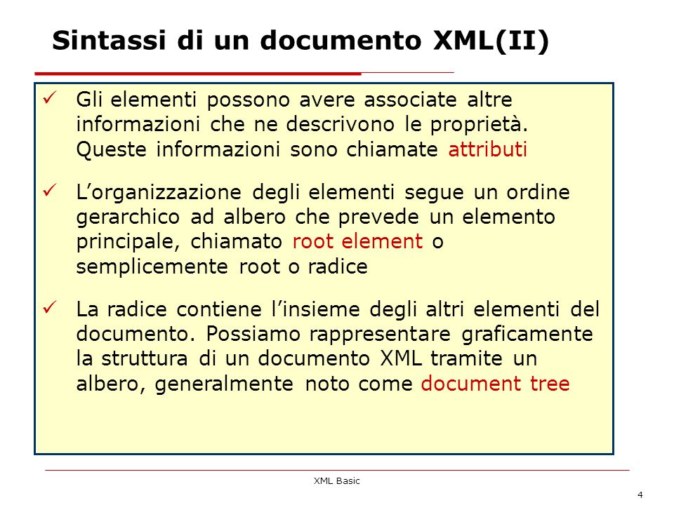 Sintassi di un documento XML(II)