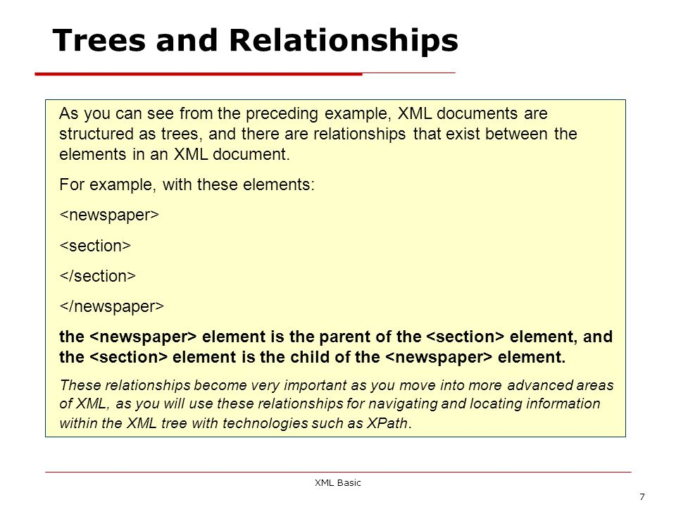 Trees and Relationships