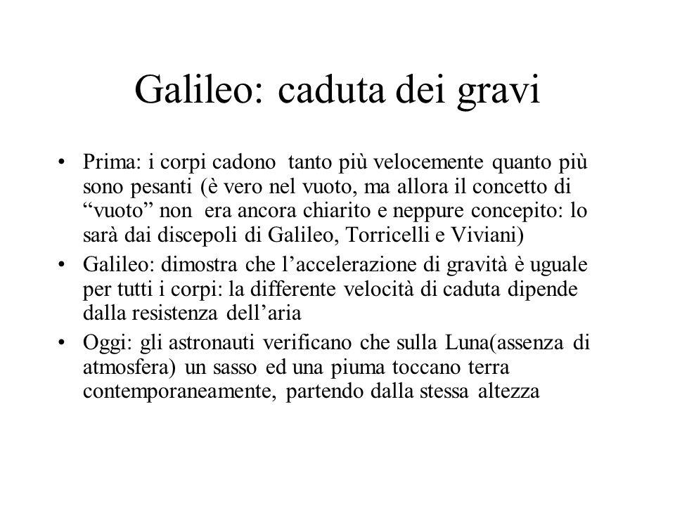 Galileo: caduta dei gravi