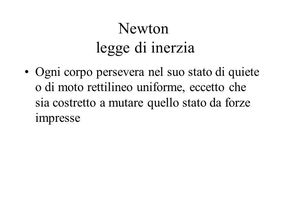 Newton legge di inerzia