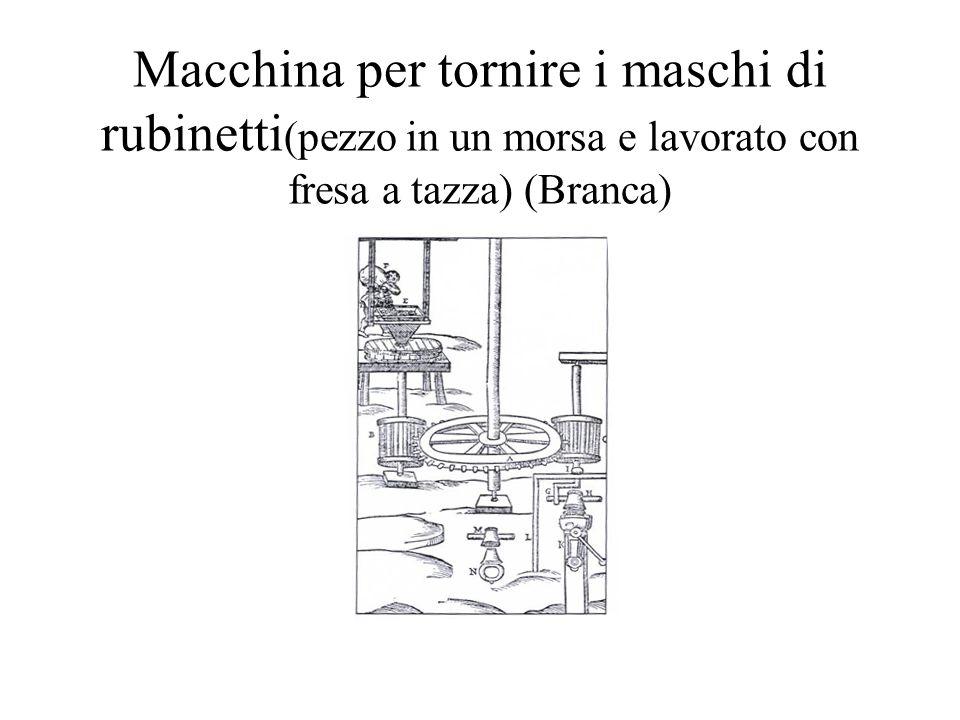 Macchina per tornire i maschi di rubinetti(pezzo in un morsa e lavorato con fresa a tazza) (Branca)