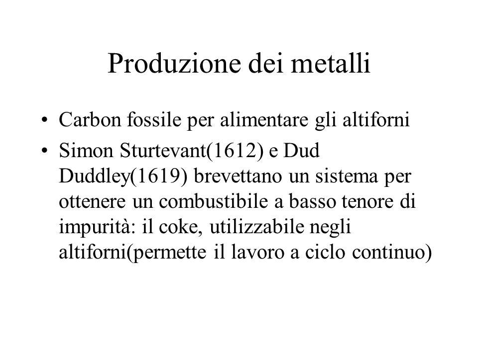 Produzione dei metalli