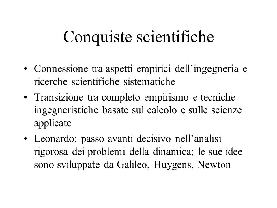 Conquiste scientifiche
